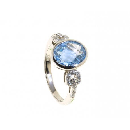 Кольцо женское серебряное 925* родий цирконий Арт 15 5500А