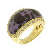 Кольцо женское серебряное 925* позолота цирконий эмаль Арт 55 2561