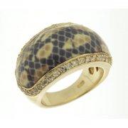 Кольцо женское серебряное 925* позолота цирконий эмаль Арт 55 2561к