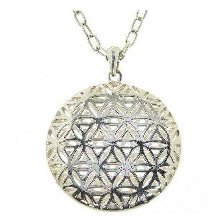 Колье женское серебряное 925* родий Арт 12 2 5212