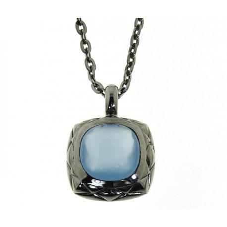 Колье женское серебряное 925* чернение кристалл Арт 12 2 6224