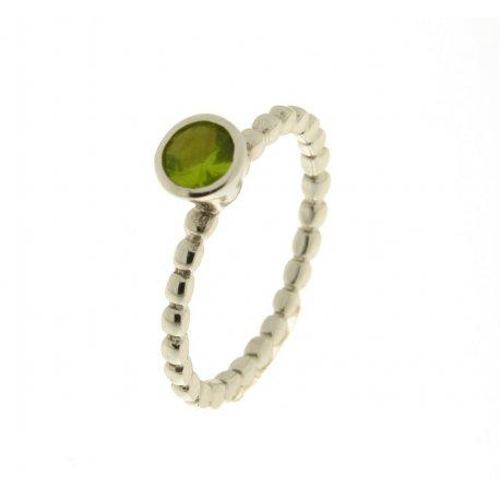 Кольцо женское серебряное 925* родий цирконий Арт 223 046