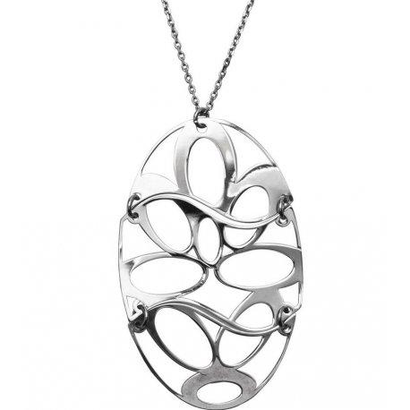 Колье женское серебряное 925* родий Арт 290 126