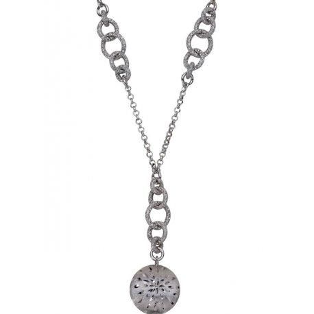 Колье женское серебряное 925* родий Арт 260 075