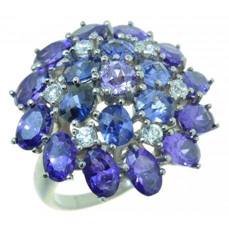 Кольцо женское серебряное 925* родий цирконий Арт 15 2700