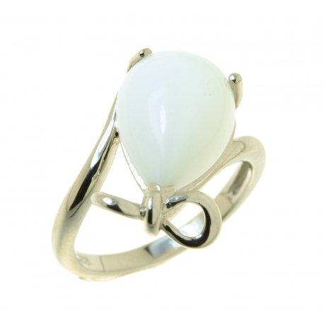 Кольцо женское серебряное 925* родий синт. агат Арт 15 4175