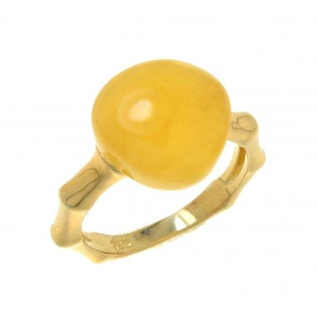 Кольцо женское серебряное 925* позолота кальцит Арт 55 5974D-Х