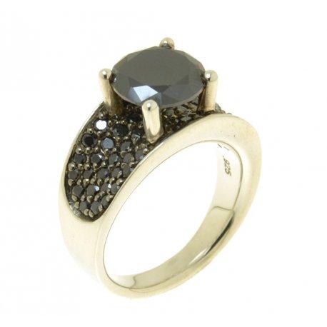 Кольцо женское серебряное 925* родий цирконий Арт 15 2 3039-89