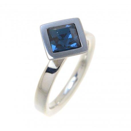 Кольцо женское серебряное 925* родий цирконий Арт 15 2 3529