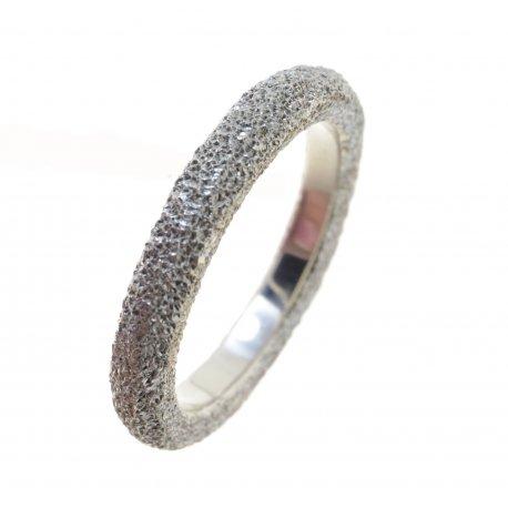 Кольцо женское серебряное 925* сатинированное родий Арт 15 2 3405