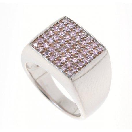 Кольцо женское серебряное 925* родий цирконий Арт 150 1010р