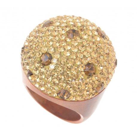 Кольцо женское дерево кристаллы Арт 151 005wood