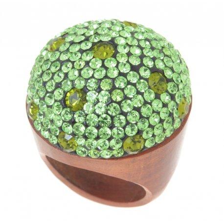 Кольцо женское дерево кристаллы Арт 151 004wood