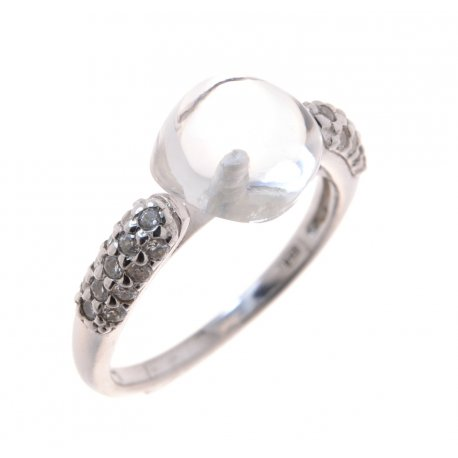 Кольцо женское серебряное 925* родий цирконий Арт 150 1192б