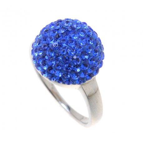 Кольцо женское серебряное 925* родий кристаллы Арт 151 244с