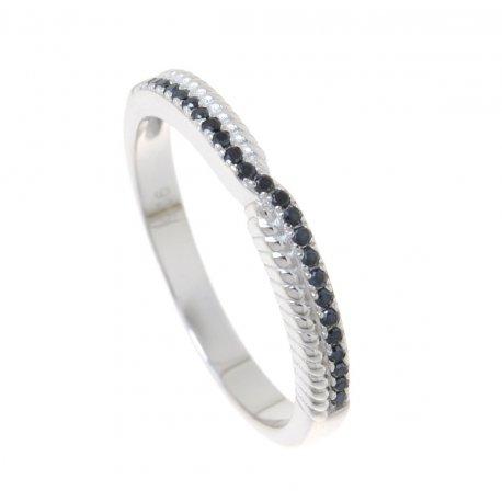 Кольцо женское серебряное 925* родий цирконий Арт 155 239