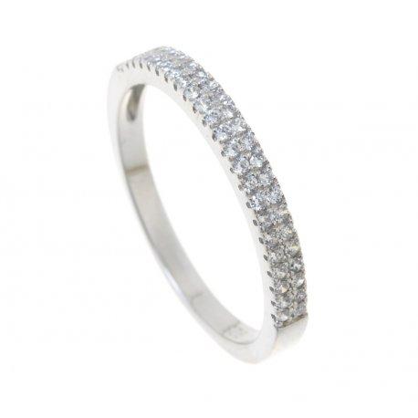 Кольцо женское серебряное 925* родий цирконий Арт 155 242