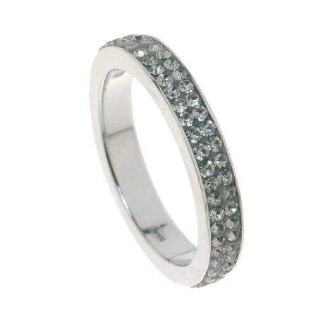 Кольцо женское серебряное 925* родий кристаллы Арт 151 023с
