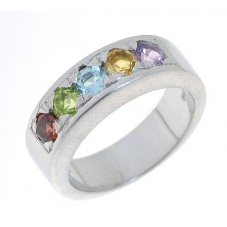 Кольцо женское серебряное 925* родий цирконий Арт 150 1153