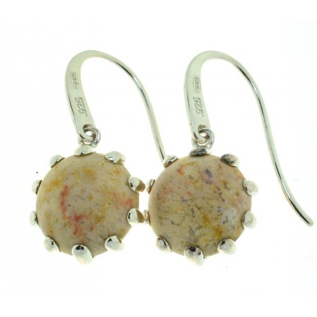 Сережки жіночі срібні 925* родій корал Арт 11 2 5365-162