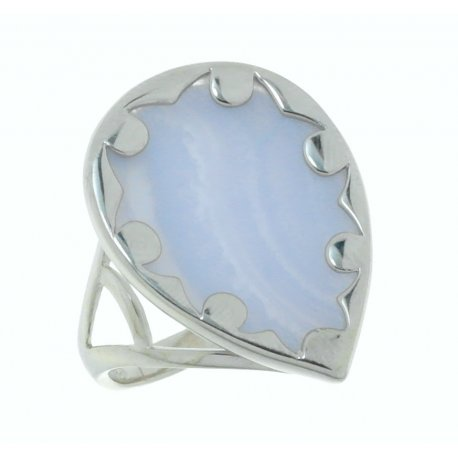 Каблучка жіноча срібна 925* агат Арт 15 6760