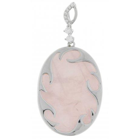 Підвіс жіночий срібний 925* родій цирконій кварц Арт 13 7951