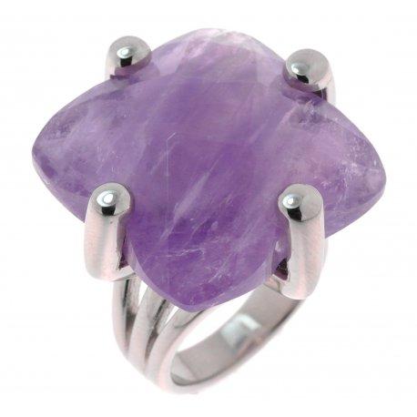 Кольцо женское серебряное 925* аметист Арт 15 6604