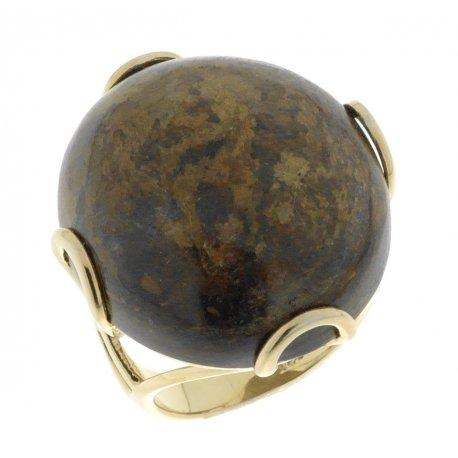 Кольцо женское серебряное 925* позолота бронзит Арт 55 5082С