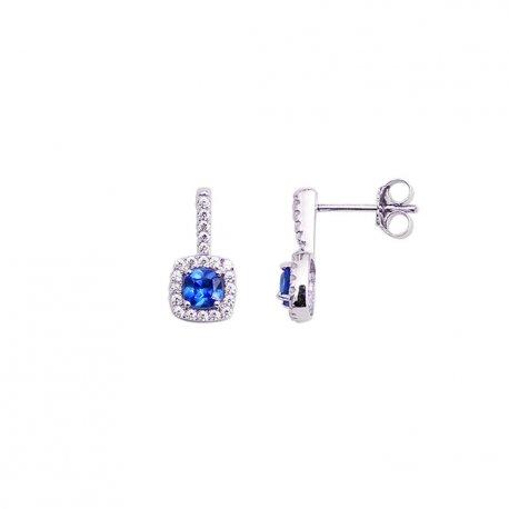 Серьги женские серебряные 925* родий цирконий Арт 115 095