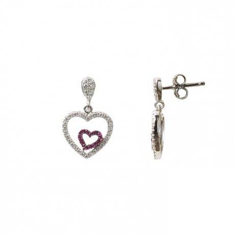 Серьги женские серебряные 925* родий цирконий Арт 115 161
