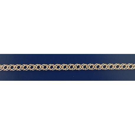 Арт 06 060 2кб Цепочка серебряная 925* позолота Рембо (Ромб двойной)