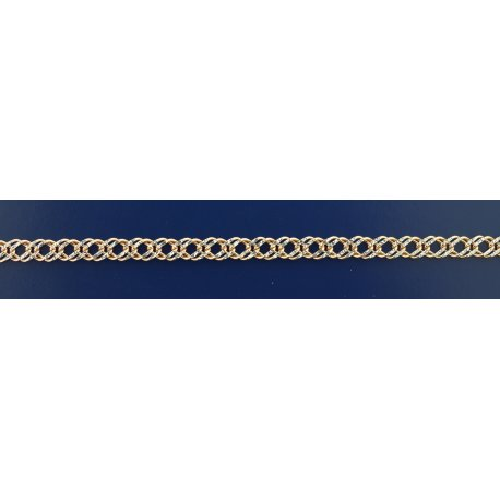 Арт 06 060 2кб Ланцюжок срібний925* позолота Рембо (Ромб подвійний)