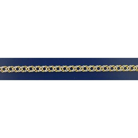 Арт 06 060 2ж Ланцюжок срібний 925* позолота Рембо (Ромб подвійний)