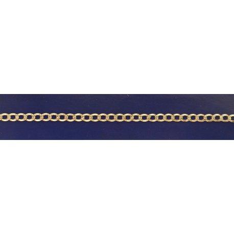 Арт 01 100ук Цепочка серебряная 925* позолота Гурмет (Панцирь)