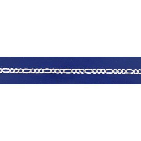 Арт 26 100у Цепочка серебряная 925* Панцирь - фигаро удлиненная