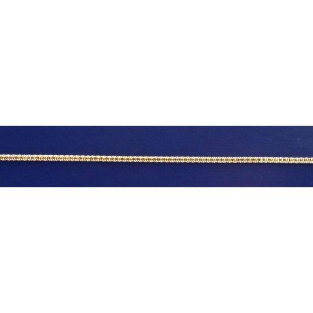 Арт 35 160ж Цепочка женская серебряная 925* позолота Снейк (Тонда)