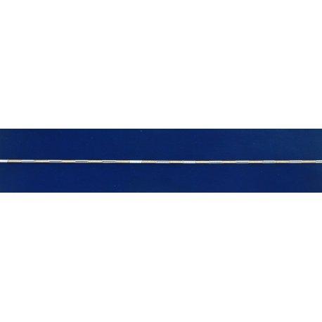 Арт 31 002кб Ланцюжок жіночий срібний 925* позолота Снейк (Тонда) насічка