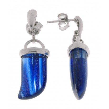 Серьги женские серебряные 925* родий синт. кварц Арт 11 3488