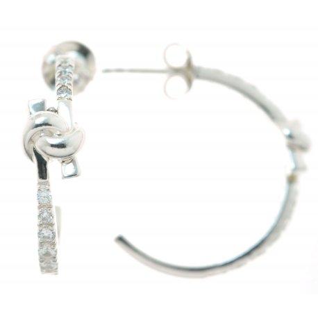Серьги женские серебряные 925* родий цирконий Арт 11 2 4884-80