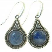 Серьги женские серебряные 925* чернение лунный камень цирконий Арт 11 2 4564-56