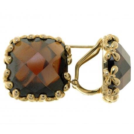 Серьги женские серебряные 925* позолота цирконий Арт 51 5553