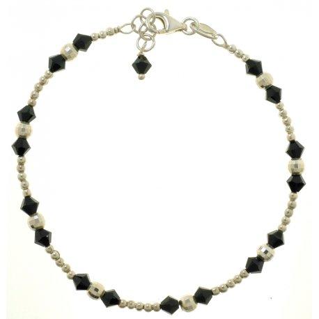 Браслет женский серебряный 925* родий кристаллы Арт 231 46
