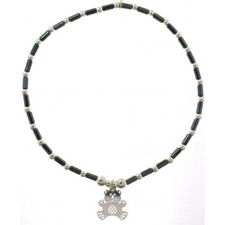 Браслет женский серебряный 925* родий гематит Арт331 039