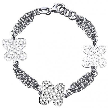Браслет женский серебряный 925* родий Арт 301 112