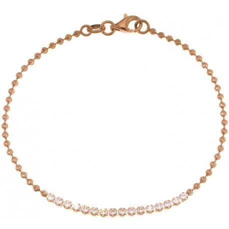 Браслет женский серебряный 925* позолота цирконий Арт 441 001-18