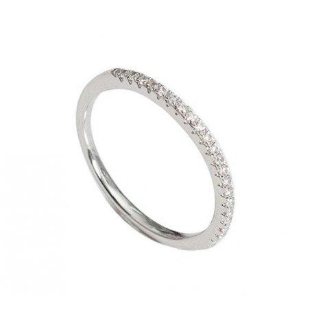 Кольцо женское серебряное 925* родий цирконий Арт 155 241б
