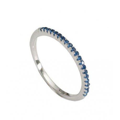 Кольцо женское серебряное 925* родий цирконий Арт 155 241с