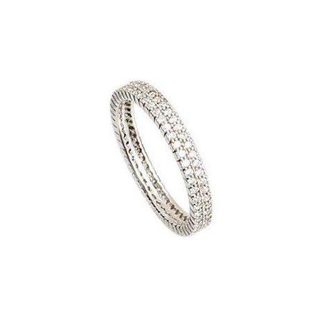 Кольцо женское серебряное 925* родий цирконий Арт 155 020