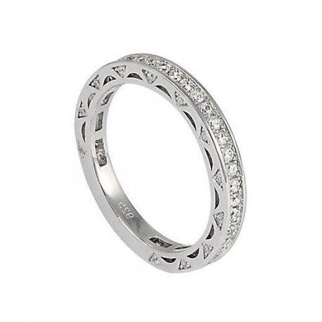 Кольцо женское серебряное 925* родий цирконий Арт 155 186