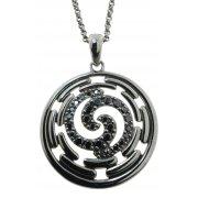 Колье женское серебряное 925* чернение цирконий Арт 12 2 6137